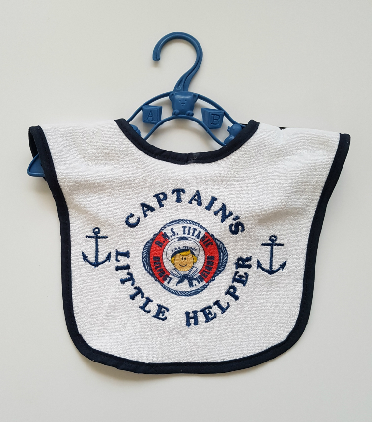Titanic Captains Baby Bib - Blue