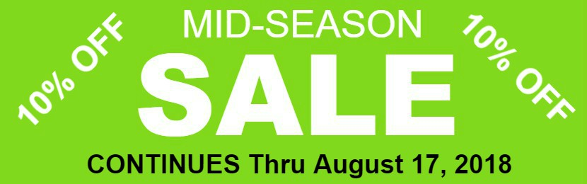 Mid Season Sale Continues