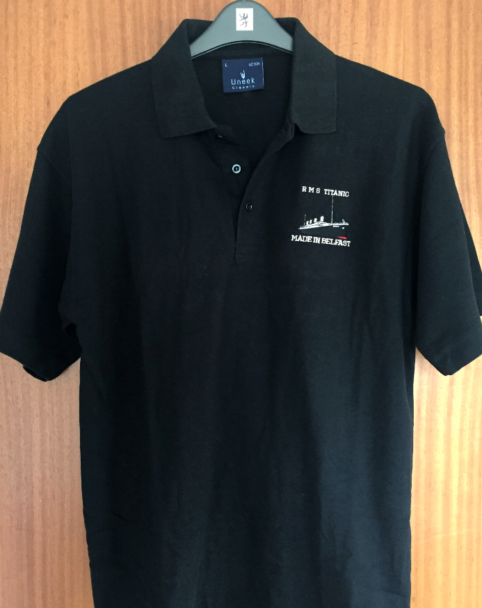 RMS Titanic Made In Belfast Polo Shirt - Navy