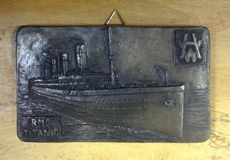 RMS Titanic Bronze Finish Wall Plaque