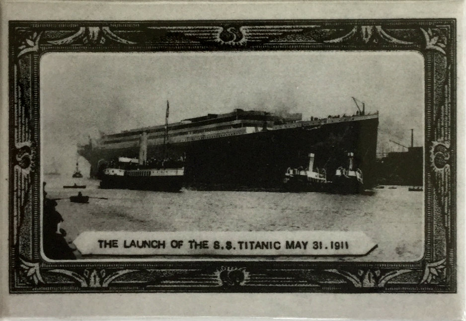 The Launch of Titanic Metal Fridge Magnet