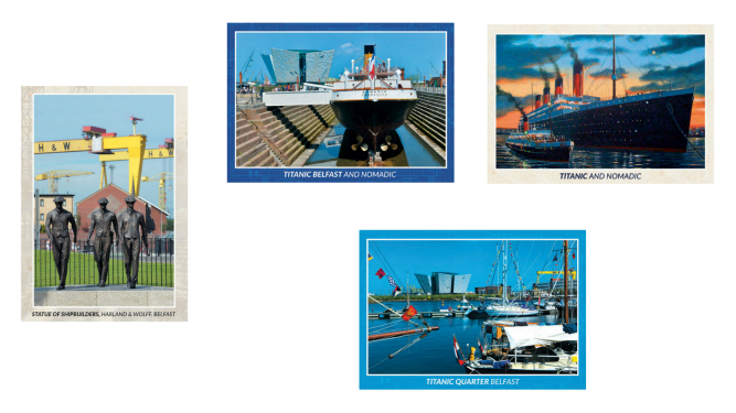 Titanic and Nomadic 3D Postcards - Set of 4