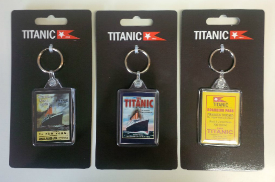 Titanic Acrylic Keyrings Set of 3