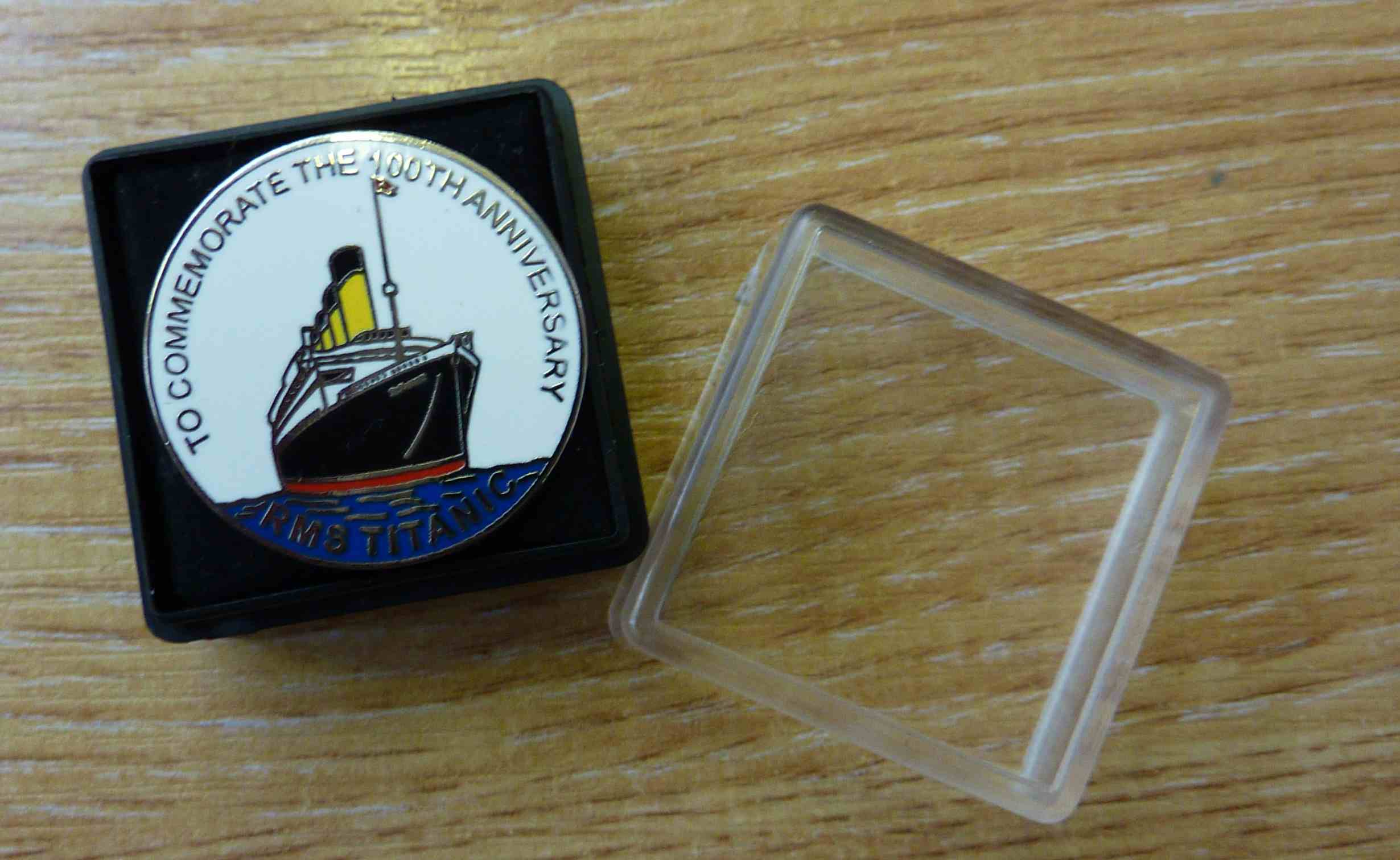 RMS Titanic 100th Anniversary Pin Badge - Click Image to Close