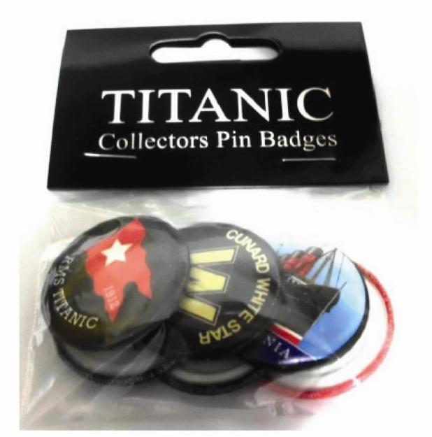 Titanic Collectors Button Badges
