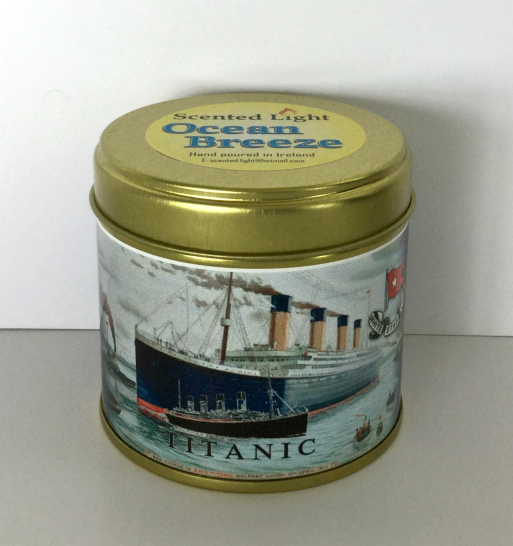 Titanic Ocean Breeze Scented Candle In A Tin