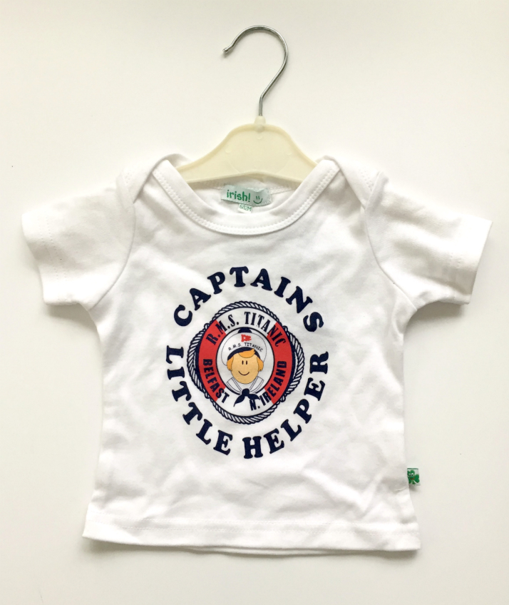 Titanic Captains Baby Tee Shirt - White