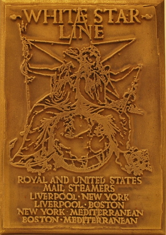 White Star Line | Mail Steamers | Bronze Wall Plaque
