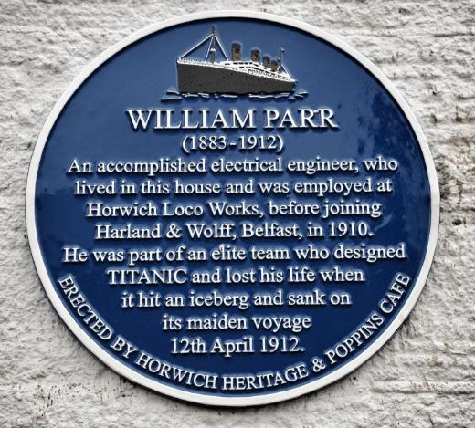 William Parr Memorial Plaque Horwich