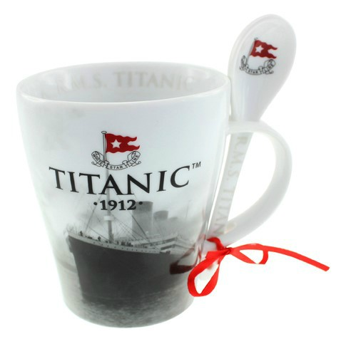 White Star Line Titanic Mug and Spoon