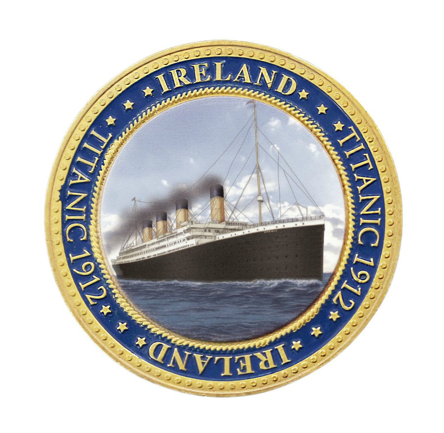 Titanic 1912 Ireland Doubled Sided Coin