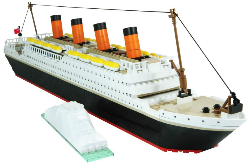 450pc Brix Titanic Model Limited Edition
