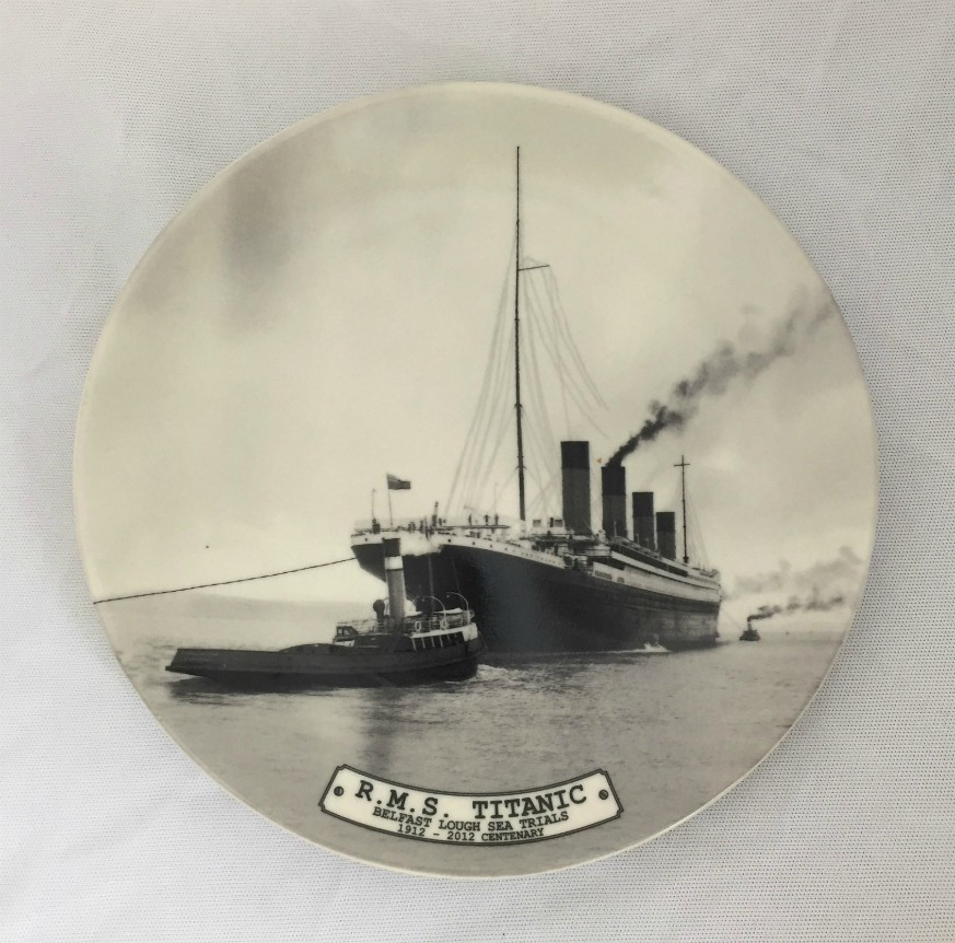 RMS Titanic Sea Trials Bone China Plate - 8 inch