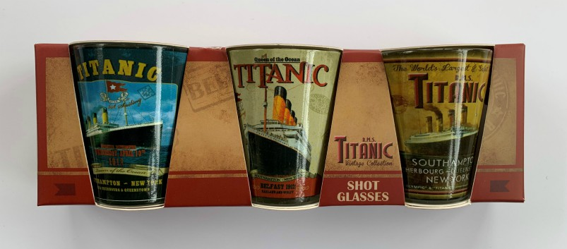 RMS Titanic Vintage Collection Shot Glasses Pack of 3
