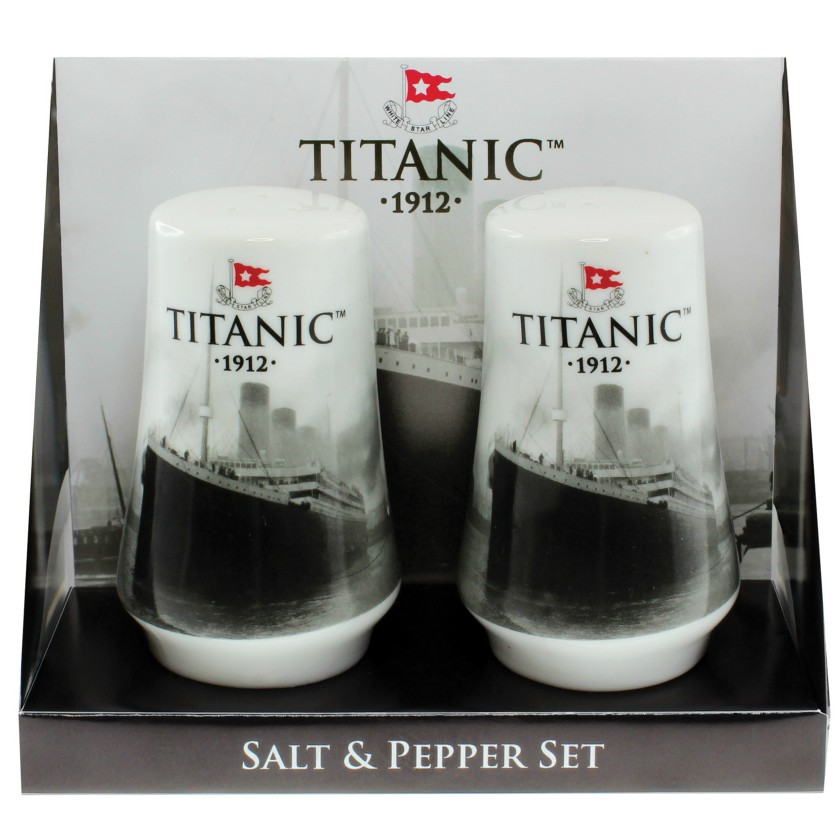 White Star Line Titanic 1912 Salt and Pepper Set