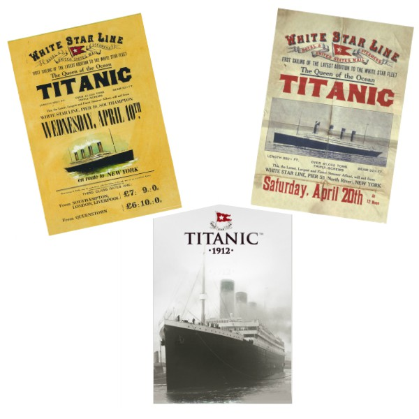 White Star Line Titanic 1912 Collectors Postcards Set of 3