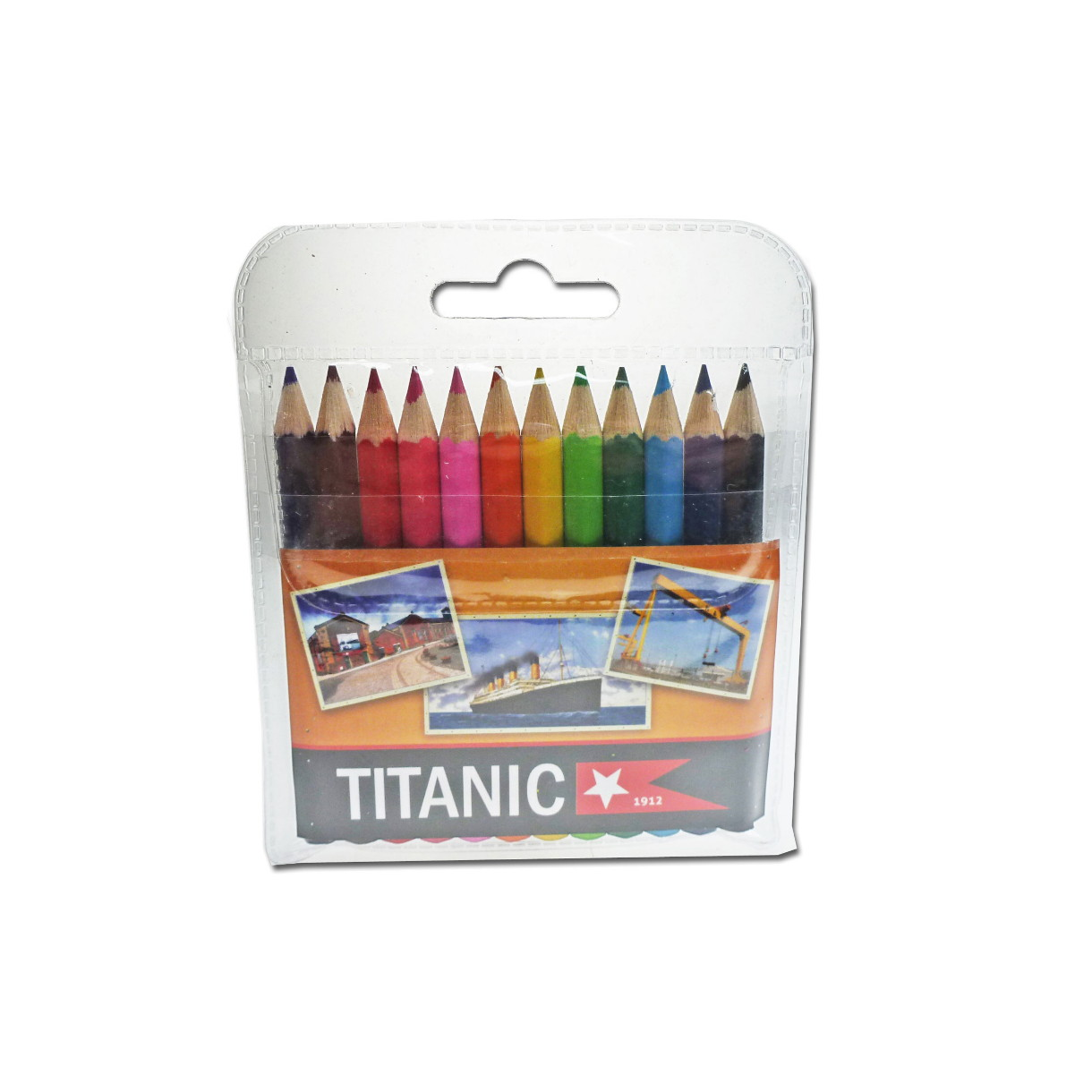 Titanic | 12 Pack | Kids | Coloring Pencils | Wallet